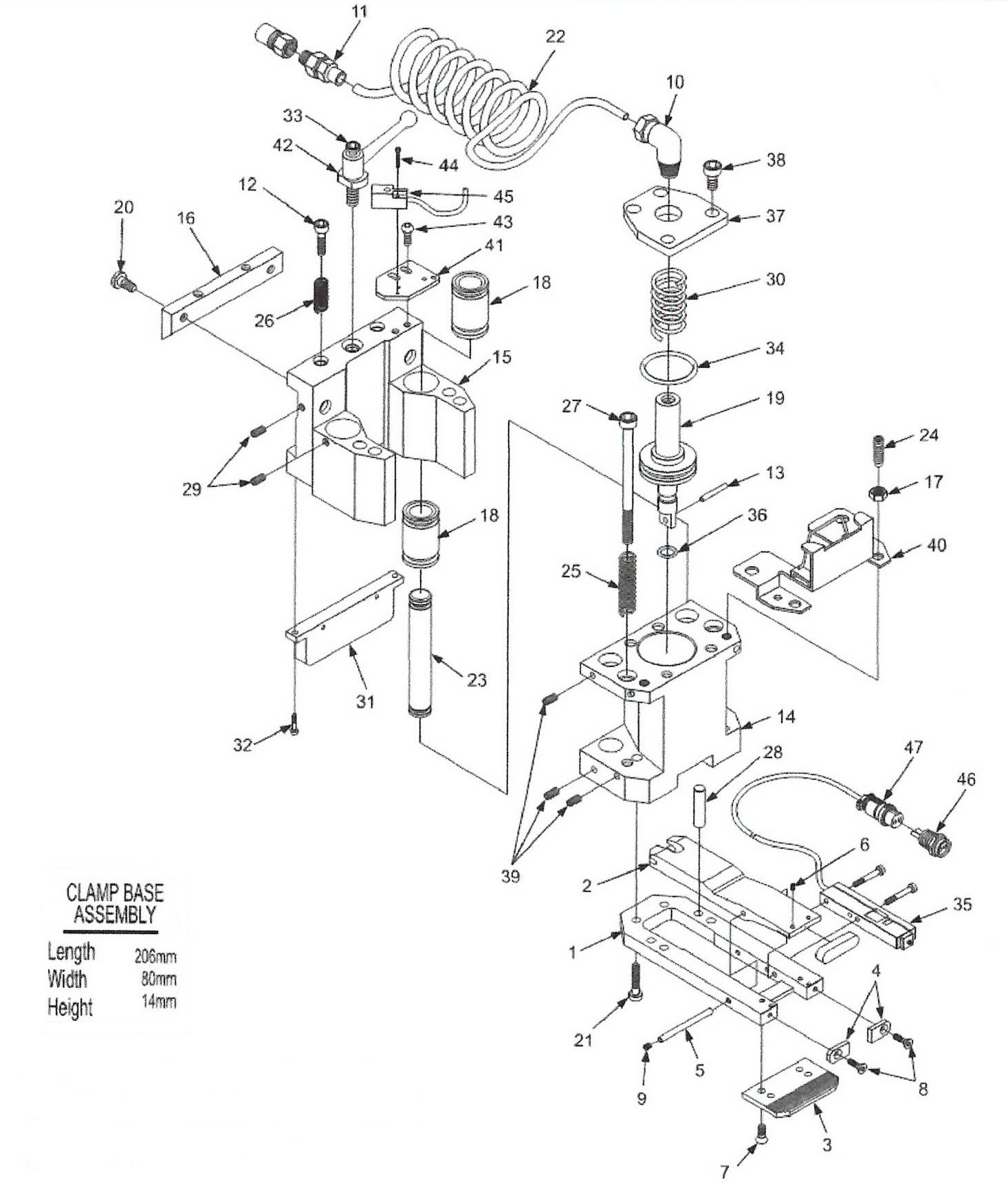 Amada Clamp Parts