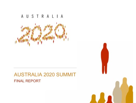 Cover of the Australia 2020 Summit report