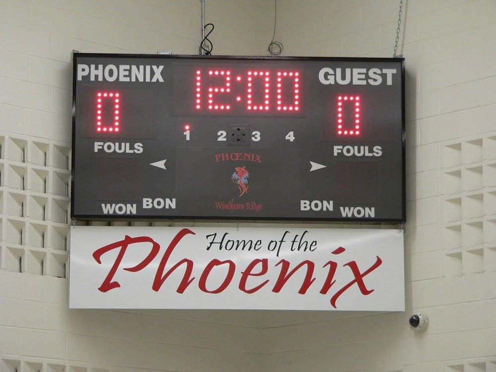 Harris Time scoreboard