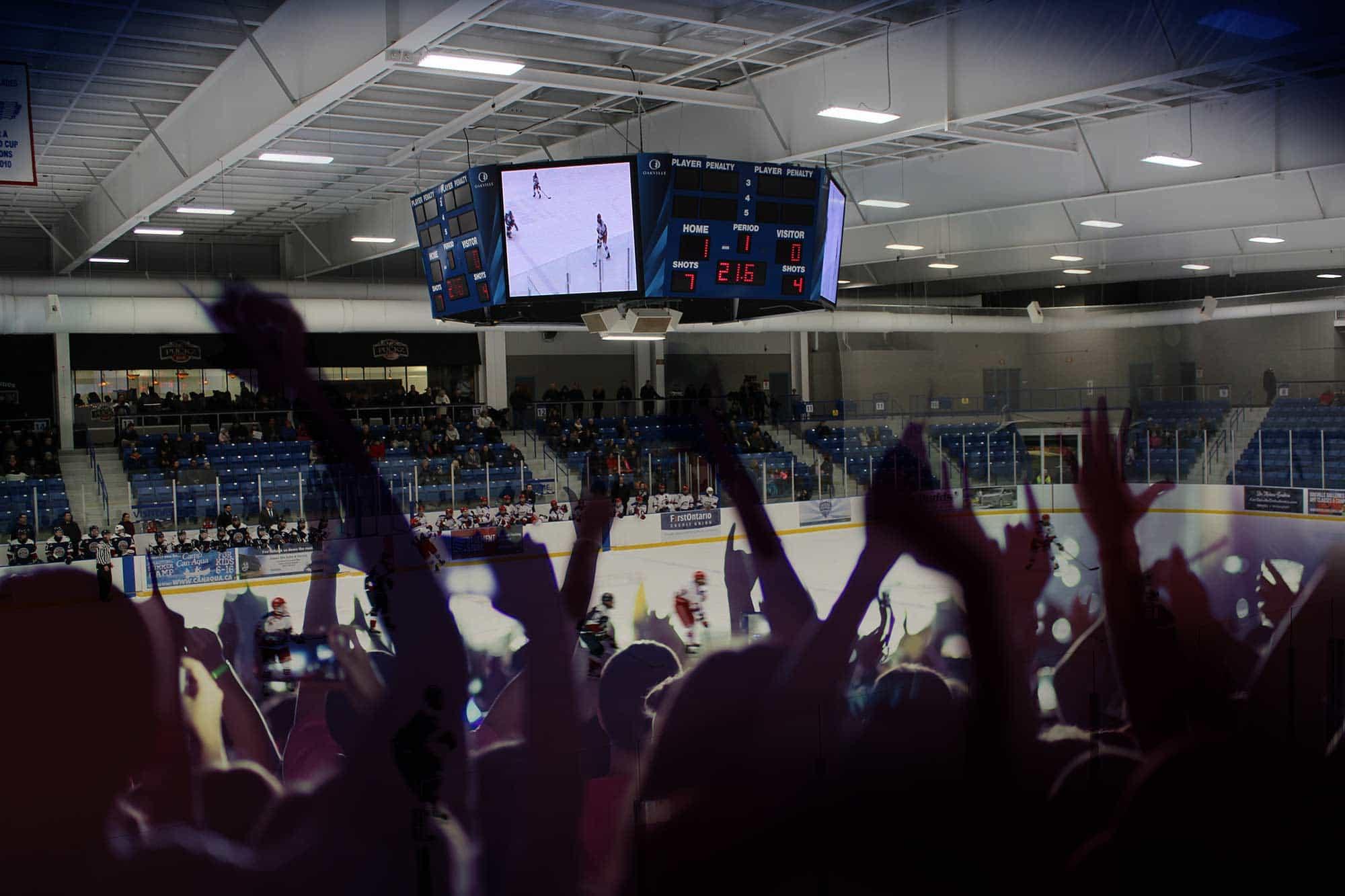 Scoreboard hockey game