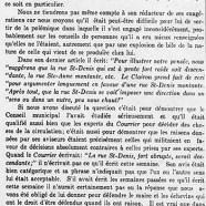 """«Un mot au """"Courrier""""»"""