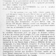 """«Les vessies du """"Courrier""""»"""