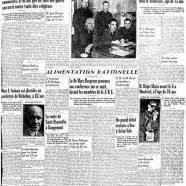 «La une du Courrier en 1941»