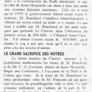 «Que M. Bouchard soit modeste; Le grand sacrifice des nôtres»