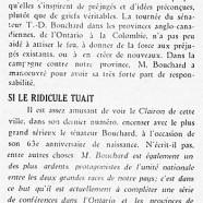 «M. Bouchard et les préjugés; Si le ridicule tuait»