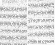 «Le candidat bleu de M. Ernest-J. Chartier au fédéral»
