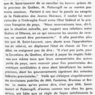 «M. Louis Saint-Laurent plus inquiet que M. Joseph Fontaine»