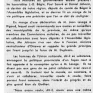 «Maurice Duplessis   prêche l'unité et Jean Lesage, la division»