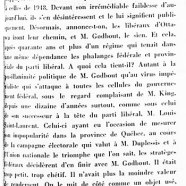 «M. Adélard Godbout renié par ses demi-frères d'Ottawa»