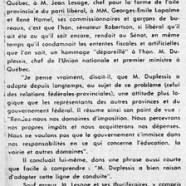 «L'honorable Wishart Robertson, sénateur libéral, donne raison à l'honorable Maurice Duplessis»