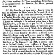 «S. E. Mgr Arthur Douville»