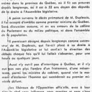 «L'honorable Paul Sauvé à la conféfence d'Ottawa»