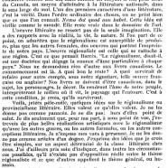 «Du régionalisme littéraire»