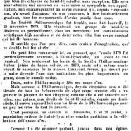 «La Société Philharmonique de Saint-Hyacinthe»