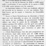 «Le gouvernement de Maurice Duplessis et l'aide à la jeunesse étudiante»