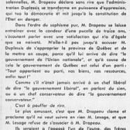 «Quand M. Jean Drapeau fait campagne pour M. Jean Lesage»
