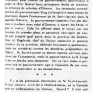 «L'honorable Louis Saint-Laurent, fils spirituel de Mackenzie King»