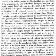 «Paroles malheureuses de MM. Saint-Laurent et Garson»