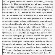 «La victoire de M. Ernest-J. Chartier ou l'écrasement de M. T.-D. Bouchard»