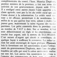 «M. Duplessis à Chicoutimi»