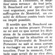 «L'honorable M. Bouchard et l'Université de Montréal»