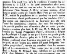 «Pourquoi M. Adélard Godbout ne voit pas de communisme»
