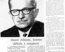 «L'honorable Daniel Johnson n'est plus»