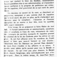 «Élections le 20 juin, qui prendront la mesure de Georges-Émile Lapalme»