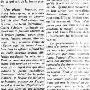 «Presse catholique; Pas de recours!»