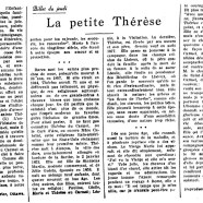 «La petite Thérèse»