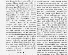 «L'animateur de la Mauricie : Mgr Albert Tessier»