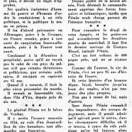 «La glorieuse et triste carrière de Pétain»