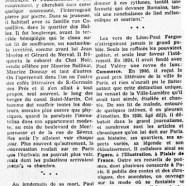 «Le souvenir de Léon-Paul Fargue»