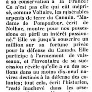 «Mme Pompadour et le Canada»