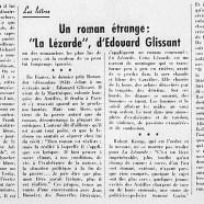 """«Un roman étrange : """"La Lézarde"""": d'Édouard Glissant»"""