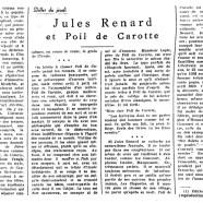 «Jules Renard et Poil de Carotte»