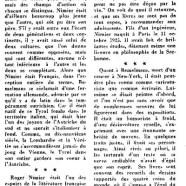 «Deux disparus : Nimier et Bemelmans»
