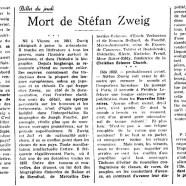 «Mort de Stéfan Zweig»
