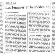 «Les femmes et la médecine»