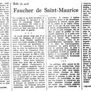 «Faucher de Saint-Maurice»