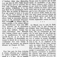 «Le dernier ouvrage de l'abbé Savard»