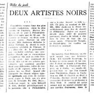 «Deux artistes noirs»