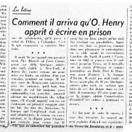 «Comment il arriva qu'O. Henry apprit à écrire en prison»