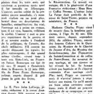 «Un grand malade et deux morts» Erich-Maria Remarque; M. et Mme Charles Péguy