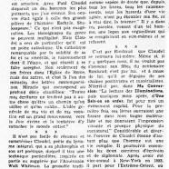 «Paul Claudel, poète catholique et diplomate»