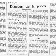 «Douceurs de la prison»