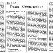 «Deux géographes»