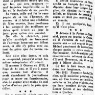«Jules Fournier, qui fut journaliste»