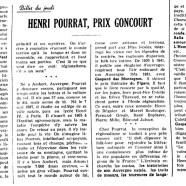 «Henri Pourrat, prix Goncourt»