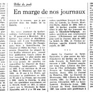 «En marge de nos journaux»
